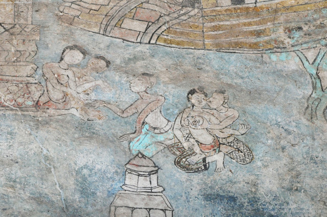 Erotic Art in Thai Temple